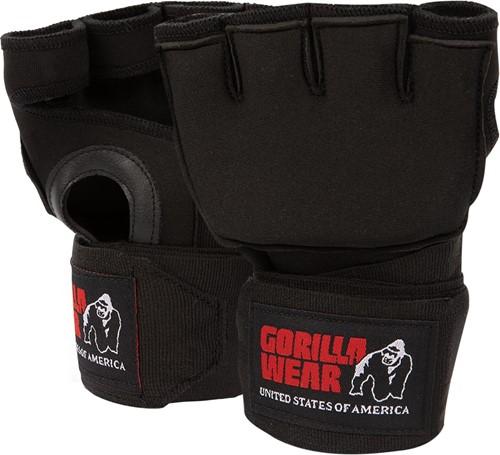 Gorilla Wear Gel Handschoenen met Omslag - Zwart / Wit