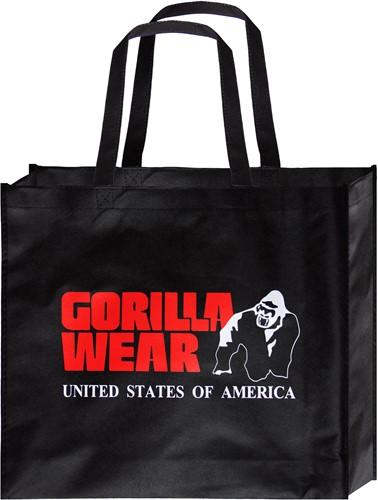 Gorilla Wear Non Woven Tas - Zwart/Rood - Klein - 10 Stuks
