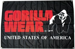 Gorilla Wear Outdoor Flag