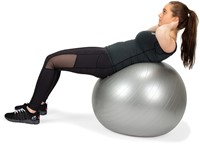VirtuFit Anti-Burst Fitnessbal Gymbal met Pomp - Grijs - 85 cm -3