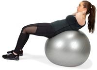 VirtuFit Anti-Burst Fitnessbal Gymbal met Pomp - Grijs - 65 cm -3