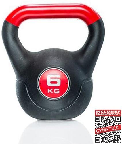 Gymstick Vinyl Kettlebell 6 kg met trainingsvideo's