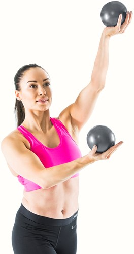 Gymstick yoga ballen 2x 1kg met work- out DVD-3