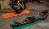 Harbinger Rolled Ribbed Durafoam Fitnessmat - Yogamat-3