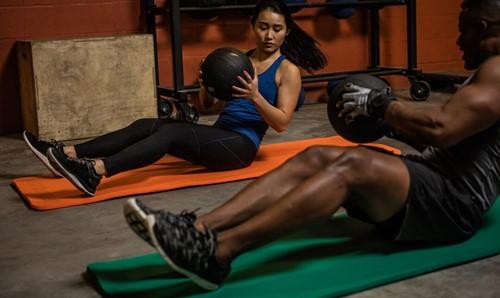 Harbinger Rolled Ribbed Durafoam Fitnessmat - Yogamat-2