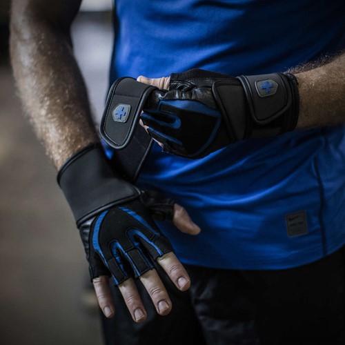 Harbinger Training Grip Gloves Black/Blue-3