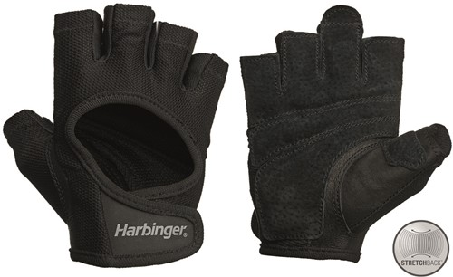 Harbinger Women's Power Stretchback Fitness Handschoenen - Zwart
