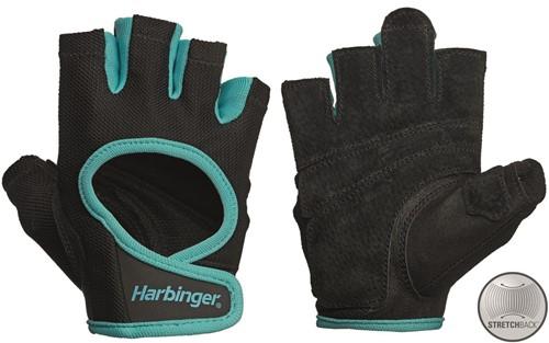 Harbinger Women's Power Stretchback Fitness Handschoenen - Zwart/Blauw