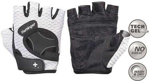 Harbinger Women's Flexfit Open Finger Fitness handschoenen - White