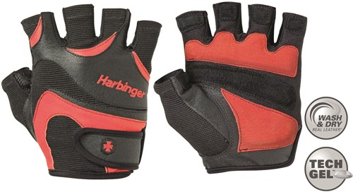 Harbinger FlexFit Wash&Dry Fitness Handschoenen Black/Red