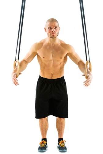 Gymstick Houten Crossfit Gymringen Inclusief Straps - met Trainingsvideo