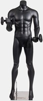 Gorilla Wear Male Muscular Mannequin Model 2 - Met Dumbbells