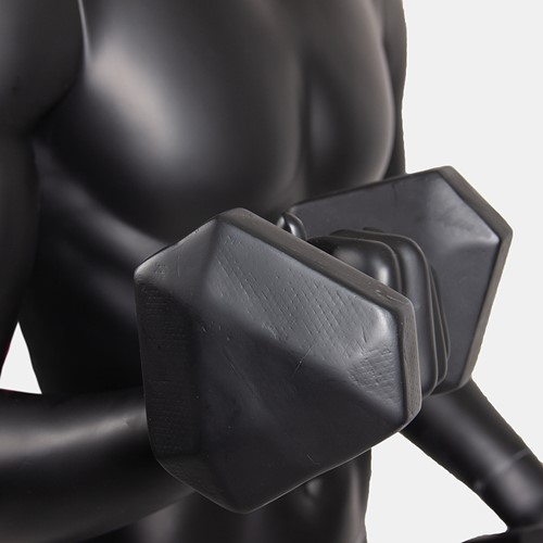 Gorilla Wear Male Muscular Mannequin Model 2 - Met Dumbbells-3