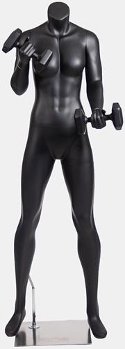 Gorilla Wear Female Mannequin - Met Dumbbells