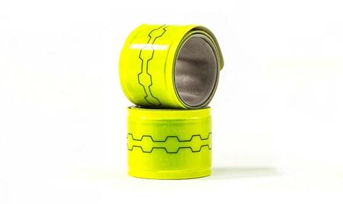 Fuelbelt Neon Snap Bands Reflectiebanden - Geel-3