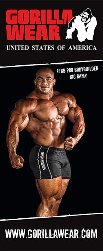 Gorilla Wear Roll Up Banner IFBB PRO Athlete BIG RAMY - 85x200cm-2