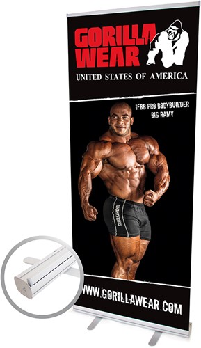 Gorilla Wear Roll Up Banner IFBB PRO Athlete BIG RAMY - 85x200cm
