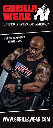 Gorilla Wear Roll Up Banner IFBB PRO Athlete DENNIS JAMES - 85x200cm