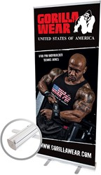 Gorilla Wear Roll Up Banner IFBB PRO Athlete DENNIS JAMES - 85x200cm