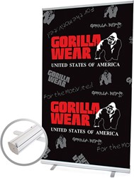 Gorilla Wear Roll Up Banner Men's Logo XL - 120x200cm