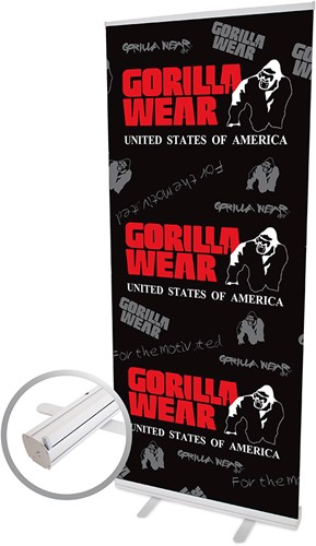 Gorilla Wear Roll Up Banner Men's Logo - 85x200cm
