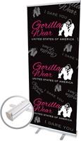 Gorilla Wear Roll Up Banner Women's Logo - 85x200cm