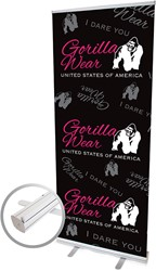 Gorilla Wear Roll Up Banner Women's Logo - 85x200cm