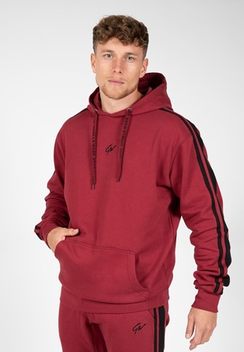 Gorilla Wear Banks Oversized Hoodie - Bordeauxrood/Zwart