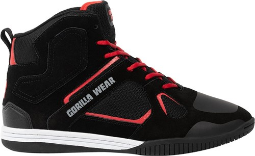 Gorilla Wear Troy High Tops Sportschoenen - Zwart/Rood