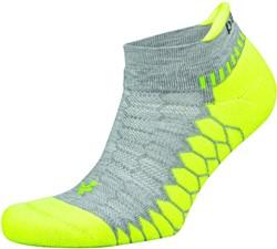 Balega Silver Sportsok Grijs/Lime groen - L