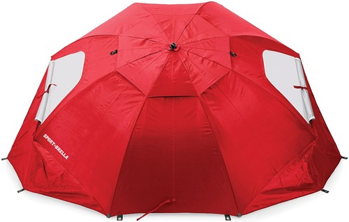 Sport-Brella Strandtent - Windscherm - Parasol   - Rood-2