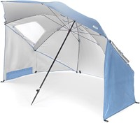 Sport-Brella  Strandtent - Windscherm - Parasol XL - Lichtblauw