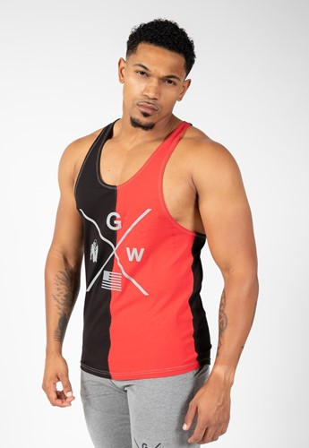 Gorilla Wear Sterling Tank Top - Zwart/Rood