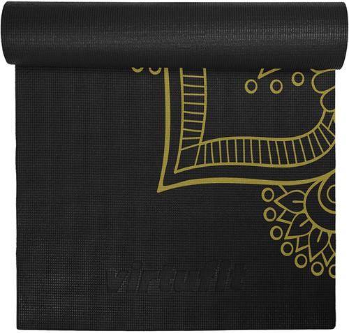 VirtuFit Premium Yogamat - 183 x 61 x 0,4 cm - Onyx Black Mandala