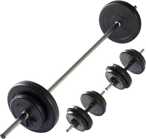 VirtuFit Verstelbare Halterset - Dumbbellset - 30,5 kg - Zwart