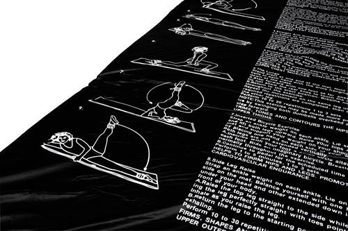 VirtuFit Fitnessmat - PVC - 180 x 60 cm - Met oefeningen - Zwart-2