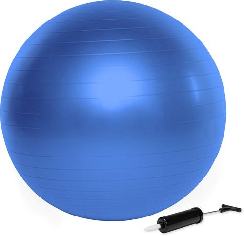 VirtuFit Anti-Burst Fitnessball Pro - Gymbal - Swiss Bal - met Pomp - Blauw - 65 cm
