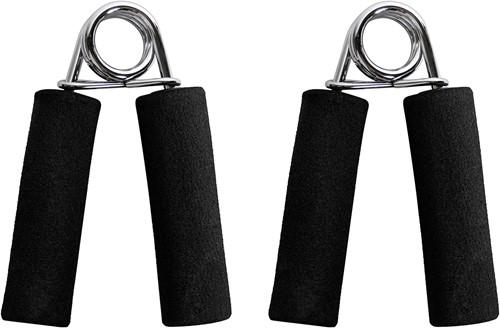 VirtuFit Foam Handknijpers - 2 Stuks - Zwart