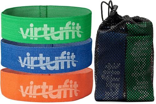 VirtuFit Mini Weerstandsbanden set - Katoen - 3 Stuks - Incl. Opbergtas