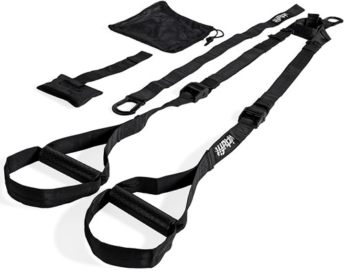 VirtuFit Suspension Trainer Pro met Opbergtas - Zwart