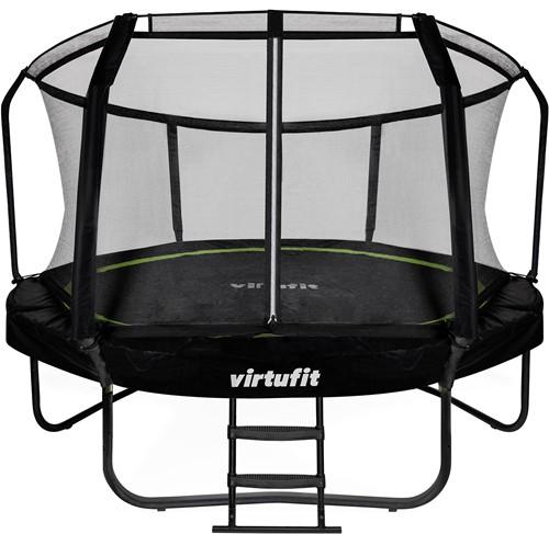 VirtuFit Premium Trampoline met Veiligheidsnet - Zwart - 366 cm