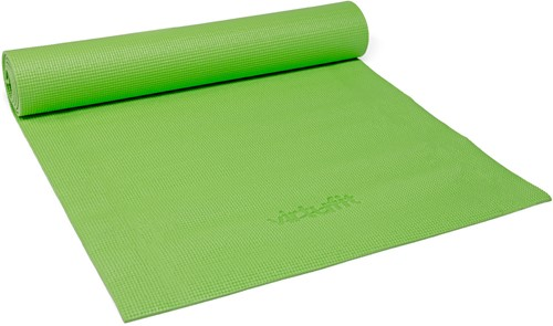 VirtuFit Yogamat met Draagkoord Groen Opgerold