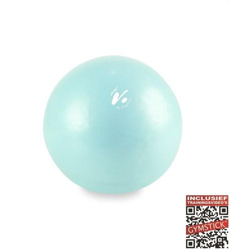 Gymstick Vivid Core Ball - Turquoise - 20 cm Met Online Trainingsvideo's