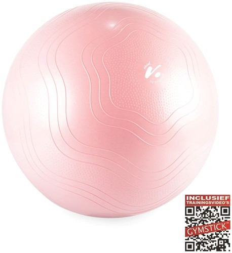 Gymstick Vivid Fitness Ball - Gymbal - Roze - 65 cm - Met Online Trainingsvideo's