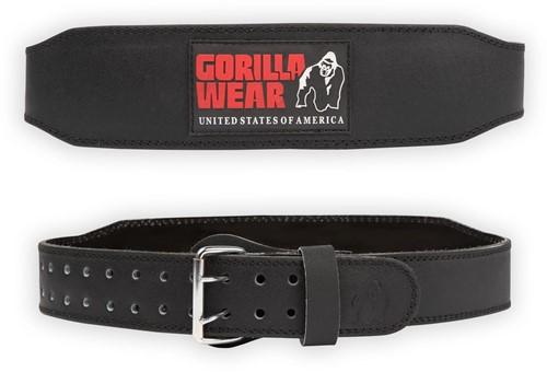 Gorilla Wear 4 Inch Padded Leren Lifting Belt - Zwart / Rood